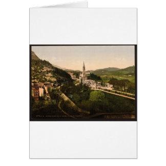 Notre Dame deルルド、ルルド、ピレネー山脈、Fraから カード
