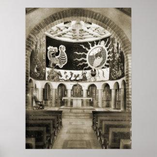 Notre Dame de Toute Graceのプラトーのd'Assey ポスター
