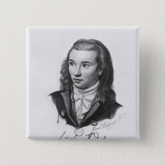 Novalis 1845年 5.1cm 正方形バッジ
