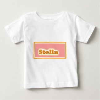NOVINOのエレガントな文字 ベビーTシャツ