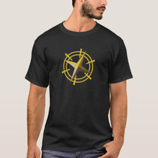 NOVINOの金ゴールドの星ドライブ車輪 Tシャツ