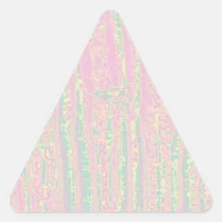 NOVINO Flourscentの青い管nのピンクの官能的な波 三角形シール
