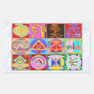 NOVINO ReikiHealing n KARUNAの霊気の記号 長方形シール
