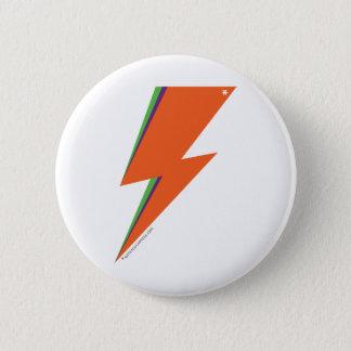 NPのオレンジボルト標準、2つの¼のインチの円形ボタン 5.7CM 丸型バッジ