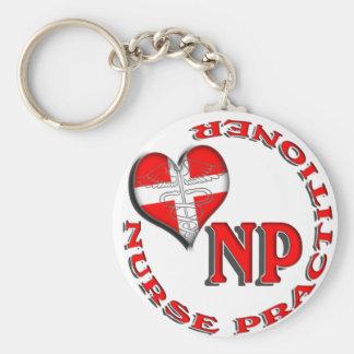 NPの円のロゴのナースの従業者 キーホルダー