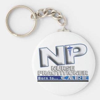 NP -スローガン-ナースの従業者気にするために生まれて下さい キーホルダー