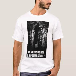 NRJ3社会は丁寧な社会のTシャツです Tシャツ