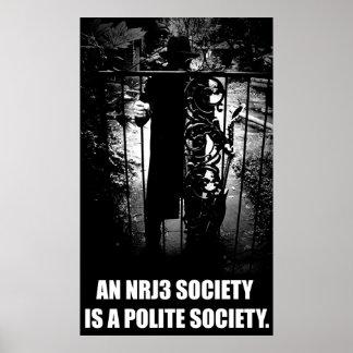 NRJ3社会は丁寧な社会ポスターです ポスター