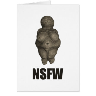 NSFW有史以前の金星の置物 グリーティングカード