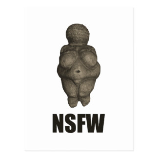 NSFW有史以前の金星の置物 ポストカード