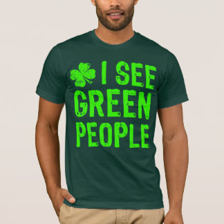 NSPF Iは緑の人々のTシャツを見ます Tシャツ