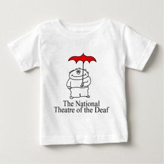 NTDのレトロのロゴ(赤か黒) ベビーTシャツ