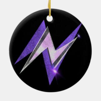 Nuの稲妻の円形のぶら下がったなオーナメント(紫色) セラミックオーナメント