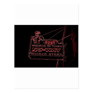 NU-WAYのウィーナー-メーコン、ジョージア ポストカード