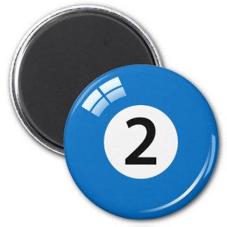 Number 2ビリヤードボールの冷蔵庫用マグネット マグネット
