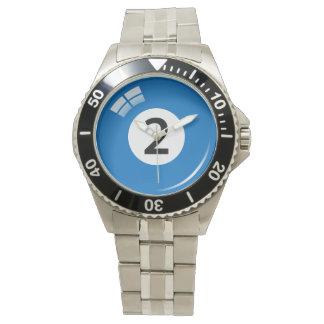 Number 2プール/ビリヤードボール 腕時計