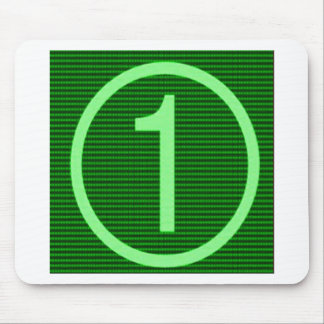 NumberONEの緑のマラソン マウスパッド