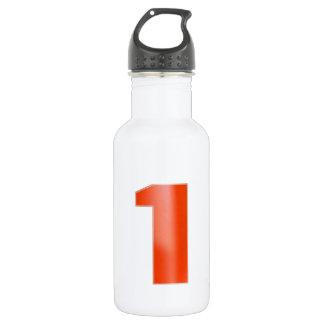 NumberONEの装飾的で芸術的な赤 ウォーターボトル