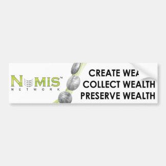 Numisネットワークは富のバンパーステッカーを集めます バンパーステッカー
