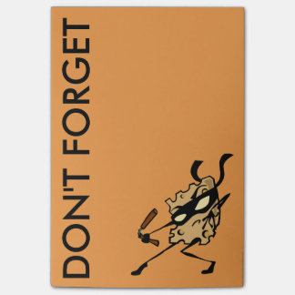 NUNCHUCKSのポスト・イットのメモ帳が付いている忍者のチーズ ポストイット