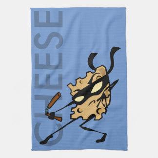 NUNCHUCKSの台所タオルが付いている忍者のチーズ キッチンタオル
