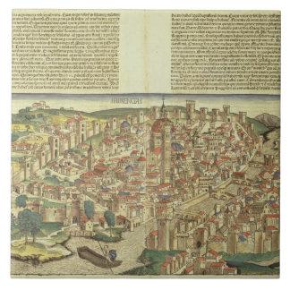 Nureからのフィレンツェ囲まれた市の眺め、 タイル