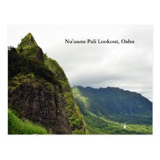 Nu'uanu Paliの眺望Postcrd ポストカード