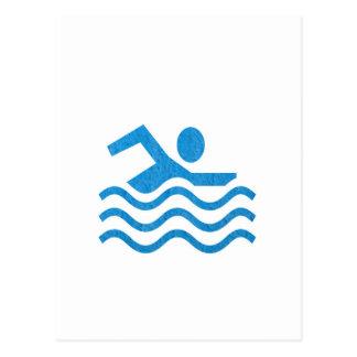 NVN24 navinJOSHIの水泳の成功の水泳の泳ぐ人101 ポストカード
