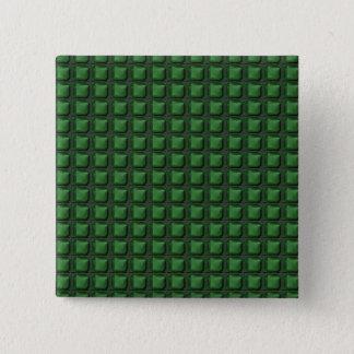 NVN9 NavinJOSHIの緑の平方された写実的なアールデコ 缶バッジ