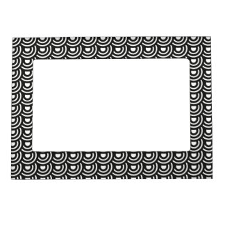 NYのアール・デコの大都会のモダンな白黒 マグネットフレーム