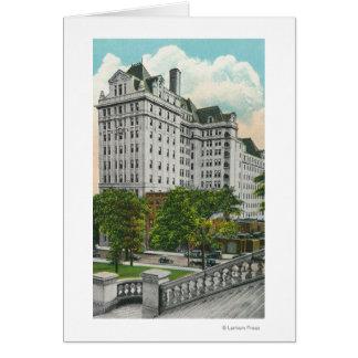 NYの電話Co. Bldgの国会議事堂のアプローチの眺め カード