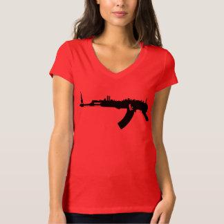 NYカラシニコフ自動小銃レディースBella Vneck Tシャツ