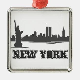 nyニューヨークシティのレトロのヴィンテージのデザイン メタルオーナメント