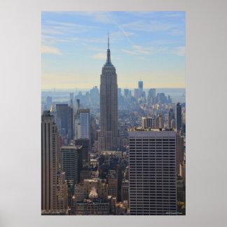 NY都市スカイラインのエンパイア・ステート・ビルディング、国際貿易 ポスター