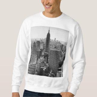 NY都市スカイラインのエンパイア・ステート・ビルディング、WTC BW スウェットシャツ