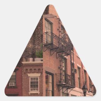 NY7 三角形シール