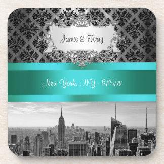 NY|都市|スカイライン|BW|B3|ダマスク織|F2|-|コースター
