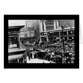 NY 1917年のブロードウェイの兵士のパレード カード
