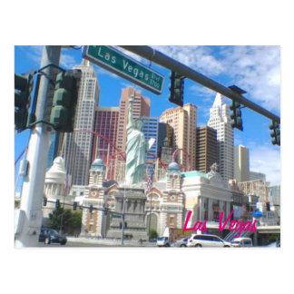 NY NY Las Vegas Blvdの郵便はがき ポストカード