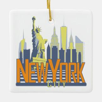 NYCのはっきりしたな正方形のオーナメント セラミックオーナメント