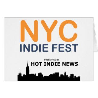 NYCのインディのFESTのスワッグ カード