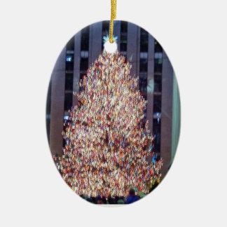 NYCのクリスマスツリーのオーナメント セラミックオーナメント
