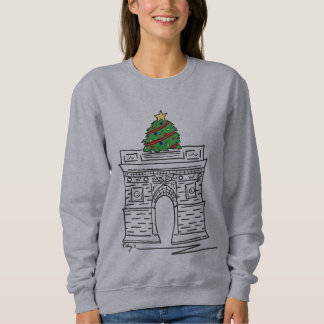 NYCのクリスマスツリーのワシントン州の正方形のスエットシャツ スウェットシャツ