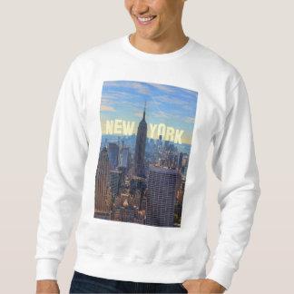 NYCのスカイラインのエンパイア・ステート・ビルディング、国際貿易2C スウェットシャツ