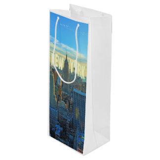 NYCのスカイラインのエンパイア・ステート・ビルディング、国際貿易2C ワインギフトバッグ