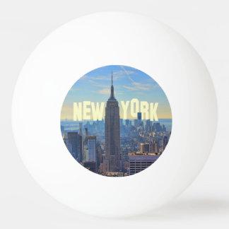 NYCのスカイラインのエンパイア・ステート・ビルディング、国際貿易2C 卓球ボール