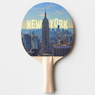 NYCのスカイラインのエンパイア・ステート・ビルディング、国際貿易2C 卓球ラケット