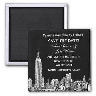 NYCのスカイラインは01エッチングされたDIY BG日付保存を着色します マグネット