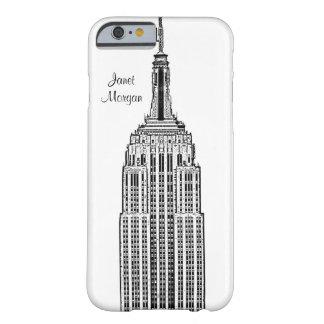 NYCのスカイライン-エンパイア・ステート・ビルディングは一見をエッチングしました BARELY THERE iPhone 6 ケース