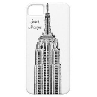 NYCのスカイライン-エンパイア・ステート・ビルディングは一見をエッチングしました iPhone SE/5/5s ケース